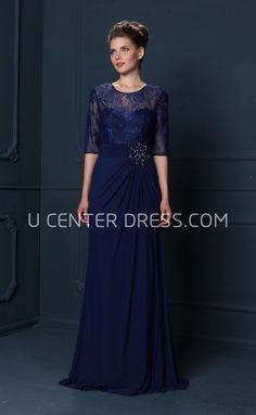 $140.39-Scoop Neck Draped Half Sleeve Chiffon Mother Of The Bride Dress. http://www.ucenterdress.com/scoop-neck-draped-half-sleeve-chiffon-mother-of-the-bride-dress-pMK_303178.html.  Tailor Made mother of the groom dress/ mother of the brides dress at #UcenterDress. We offer a amazing collection of 800+ Mother of the Groom dresses so you can look your best on your daughter's or son's special day. Low Prices, Free Shipping. #motherdress