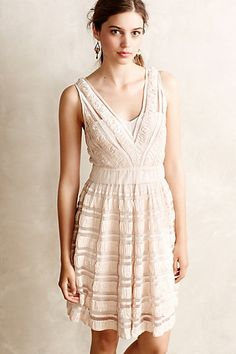 ruban flared dress / anthropologie