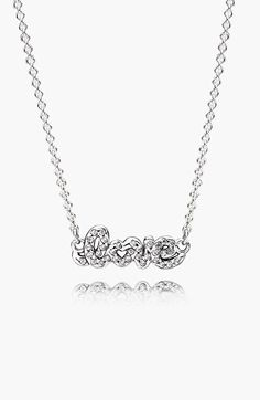 PANDORA 'Signature of Love' Pendant Necklace available at #Nordstrom
