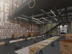 Crossfit DLX by noma visual 3d, via Behance