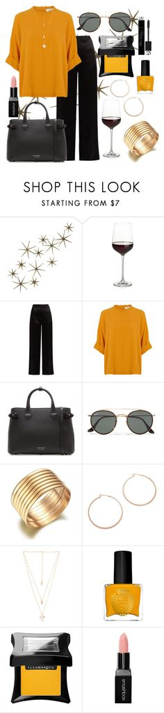 """""""Untitled #74"""" by bleesot ❤ liked on Polyvore featuring Global Views, Crate and Barrel, Lanvin, Burberry, Ray-Ban, Jennifer Zeuner, Natalie B, ncLA, Illamasqua and Smashbox"""