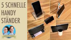 5 DIY Smartphone Ständer, aus: - Kassettenhülle - Bleistifte - Vielzweckklammern - Toilettenpapierrolle - Sonnenbrille
