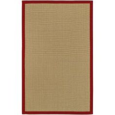 @Overstock - This beautifully designed solid cotton rug has a tan and red pattern with a solid patterned finish, offering added style to any decor. This modern rug is durable and can be used indoors or outdoors, allowing for ease of maintenance.http://www.overstock.com/Home-Garden/Town-Tan-and-Red-Cotton-Border-Rug-5-x-79/6458295/product.html?CID=214117 $85.84