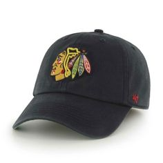 15ed7d833b289 Chicago Blackhawks Adjustable Black Clean-Up Hat by  47 Brand  21.95  ChicagoBlackhawks  Chicago