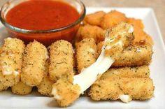 Cheesy mozorella sticks