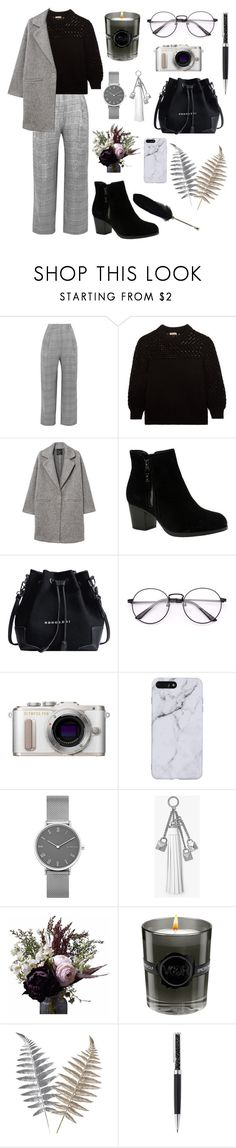 """Untitled #29"" by xxabella ❤ liked on Polyvore featuring Carmen March, Bottega Veneta, MANGO, Skechers, PL8, Skagen, MICHAEL Michael Kors, Abigail Ahern, Viktor & Rolf and Swarovski"