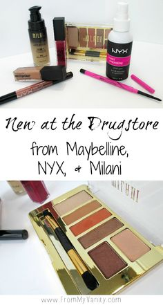 There are so many new products popping up at the drugstore! I love testing them out to see if they're great hits or misses! FromMyVanity.com @LadyKaty92 #maybelline #nyx #milani