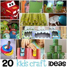 Keeping it Simple: 20 Fun Kids Crafts {Round Up}