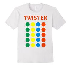 Amazon.com: Halloween T-shirt - Twister Board Game Costume: Clothing
