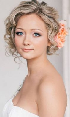 Simple and elegant wedding hairstyle for short hair. Any  wedding style and any season. http://www.weddingforward.com/wedding-hairstyle-ideas-for-short-hair/ #weddinghairstyles #bridalhairstyles
