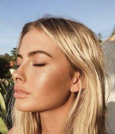 Sommer Make-up natürlich bronziertes Make-up - Natural Makeup Light Bronze Makeup, Glowy Makeup, Beauty Makeup, Hair Beauty, Beauty Skin, Peachy Makeup Look, Peach Makeup, Fresh Makeup, Sommer Make Up