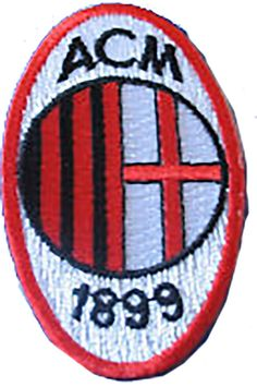 "Amazon.com: [Single Count] Custom and Unique (1 5/8"" 4 cm x 2 3/4"" 7 cm) ""Biker"" AC Milian Italian Football Soccer Dated Design Iron & Stick On Adhesive Embroidered Applique Patch {Red, White & Black}"