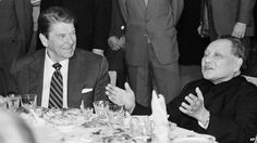 HISTORY- Ronald Reagan and Chinese leader Deng Xiaoping eat lunch together, Saturday, April 28, 1984