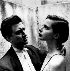 David Lynch and Isabella Rossellini by Helmut Newton for Vanity Fair, 1986