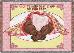 Personalized Two Feet Pink Baby African American Tapestry Throw Coretta Scott King, First Communion Gifts, Baby Names, Baby Blue, Baby Gifts, Weaving, African, Tapestry, Pink