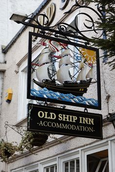 Old Ship Inn, Dorchester, England ᘡղbᘠ Uk Pub, Storefront Signs, Nautical Signs, British Pub, Pub Signs, Shop Fronts, Decorative Signs, Advertising Signs, Store Signs