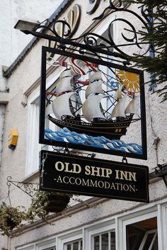 Old Ship Inn, Dorchester, England ᘡղbᘠ Uk Pub, Storefront Signs, Nautical Signs, Sculpture Metal, British Pub, Pub Signs, Shop Fronts, Decorative Signs, Store Signs