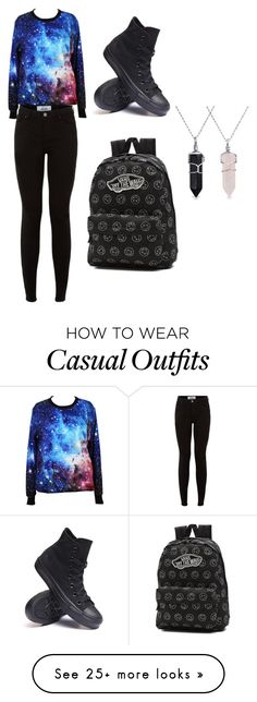 """""""Casual"""" by daphne-morales on Polyvore featuring Converse, Vans and Bling Jewelry"""