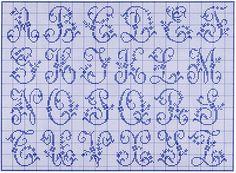 alphabet for filet crochet