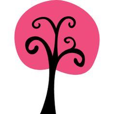 fall harvest pink tree