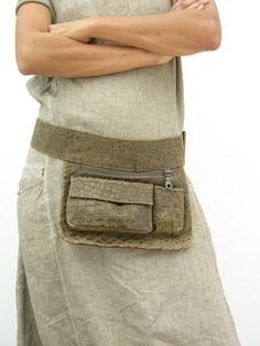 Croco Brown Hip Bag, Fanny Pack, Bum Bag, Travel Pouch