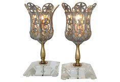1970's Florentine Mantel Lamps, Pair on OneKingsLane.com