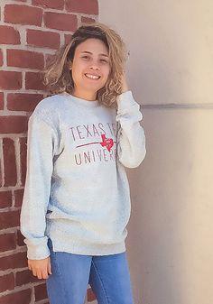 Texas Tech Red Raiders Womens Oatmeal Comfy Terry Crew Sweatshirt Raiders Gifts, Raiders T Shirt, Tech T Shirts, Texas Tech Red Raiders, Crew Sweatshirts, Stay Warm, Oatmeal, College, Graphic Sweatshirt