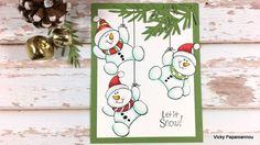 Snowman card | Stampendous