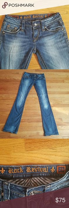 "?? ROCK REVIVAL ORIGINAL BUCKLE JEANS Size 25 Inseam 33""  Only worn a few times **** excellent condition**** Rock Revival Jeans Boot Cut"