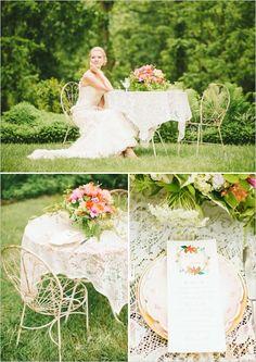 garden wedding ideas Sarah Park Events, Mobtown Florals, Rust Love Vintage Rentals, Julie Lim Photography