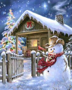 Christmas Cottage - Cross Stitch Pattern