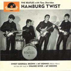 The Beatles with Tony Sheridan - Hamburg Twist - Polydor . Beatles Album Covers, Beatles Albums, Beatles Photos, Don't Let Me Down, Paul Mccartney, Preston, Liverpool, Music Pics, Great Albums