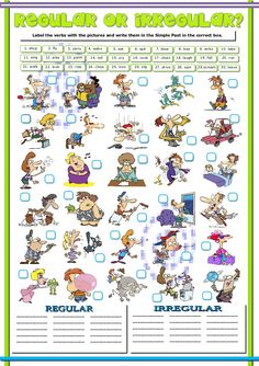 This is an e4xercise to practice regular and irregular verbs