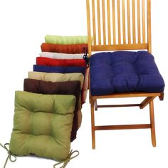 Canvas of Kitchen Chair Cushions with Ties
