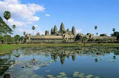 Famous Landmark Pictures - Angkor Wat is part of a lost Cambodian city that was restored, only to be looted by thieves. This 12th-century temple covers an astounding 200-acres,