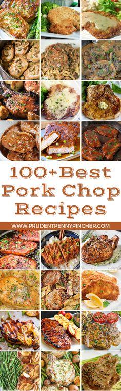 100 Best Pork Chop Recipes Best Pork Chop Recipe, Pork Chop Recipes, Meat Recipes, Dinner Recipes, Cooking Recipes, Healthy Recipes, Healthy Meals, Delicious Recipes, Healthy Food
