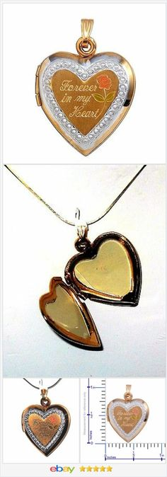 Locket with 20 in chain 10K Yellow Gold Heart Mother's Day Forever in my Heart  #EBAY http://stores.ebay.com/JEWELRY-AND-GIFTS-BY-ALICE-AND-ANN