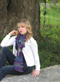 Staggered Scarf  easy beginner crochet pattern by anastaciaknits, $3.50