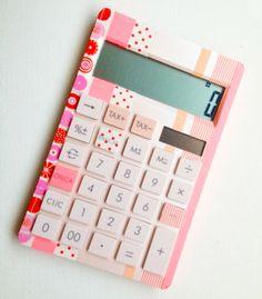 a cute washi tape calculator