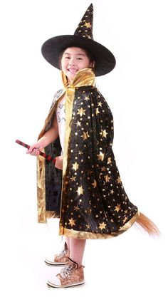 Hat Wizard Halloween Witch Party Cosplay Cap Costume Masquerade Dress Fancy