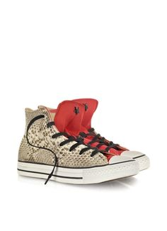 4832b84f0fdd Converse Limited Edition All Star High-top Red Canvas and Snake LTD Sneaker Converse  Chuck