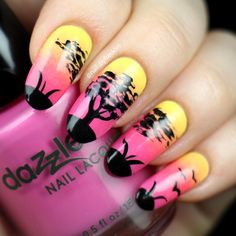 Serengeti nails by @nailsbyfreckles from Instagram using Pure Color #10 Detail brush from whatsupnails.com @whatsupnails