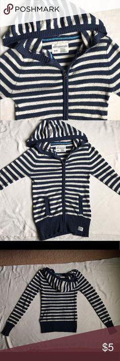 Aeropostale Zip-Up Hoodie Striped hoodie in good condition Aeropostale Tops Sweatshirts & Hoodies