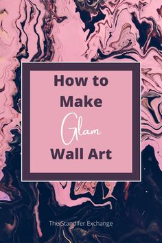 This is a great guide to make a stunning piece of wall art. This piece of art is going to light up any room in your home. Everytime someone comes over it will spark a conversation. Then you can tell them that you created this masterpiece! Imagine how proud you will be and you'll know the entire time that it was super simple to create! This tutorial is really easy to follow and doesn't have a lot of items to buy. #beautiful #wallart #glam #moms #easy #craft Pink Office Decor, Great Business Ideas, Glam Bedroom, New Bus, Diy Wall Art, White Paints, Love Is All, Super Simple, Dreaming Of You