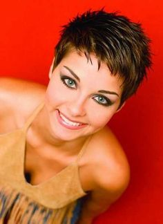 Today we have the most stylish 86 Cute Short Pixie Haircuts. We claim that you have never seen such elegant and eye-catching short hairstyles before. Pixie haircut, of course, offers a lot of options for the hair of the ladies'… Continue Reading → Black Pixie Haircut, Short Pixie Haircuts, Haircut And Color, Short Bangs, Pixie Haircut For Round Faces, Haircut Short, Bob Haircuts, Pixie Haircut Fine Hair, Fine Hair Pixie Cut
