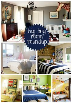 "A roundup of ""big"" boy rooms for that adorable tantrum throwing toddler in your life (or is that just me?)"