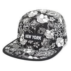New Fashion Paisley Snapback Caps Floral Newyork Caps Hats Snap Back Black Flat Bill Hat Hip hop Baseball Cap Men Women