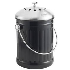 Komposteimer Küche: ✓ robuster Edelstahl ✓ inkl. 2 ...