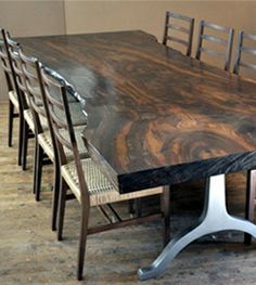 Live Edge Wood Slab Tables - American Furniture - vermontwoodsstudios.com