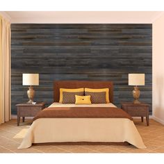 MONO SERRA Wall Design 3/8 in. x 22 in. x 96 in. Antik Faux Barn Wood Hampton Embossed Panel-PANH468A - The Home Depot